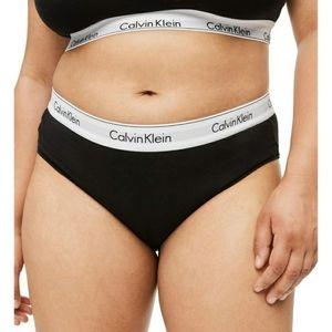 Calvin Klein Black Gray Logo Underwear Panties 1X